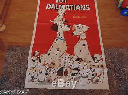 101 Dalmatians Disney Original 1969 Cinema 3 Sheet Movie Poster 39 X 77 Scarce