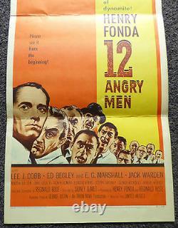 12 Angry Men 1957 Original Insert Movie Poster Henry Fonda Jack Klugman