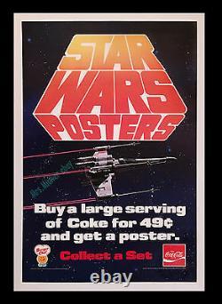 1977 Star Wars Burger Chef Coca-cola Vintage Store Display Movie Poster