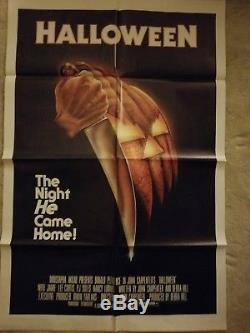 1978 Halloween One Sheet Original Release Movie Poster 27x41