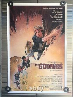 1985 Original THE GOONIES VERY RARE Rolled One-Sheet 27x41