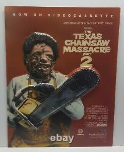 1986 Texas Chainsaw Massacre Part 2 Lightbox Plastic 3D Promo Poster Leatherface