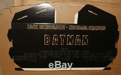 1989 Batman Original Movie Theater Display Cardboard Standee
