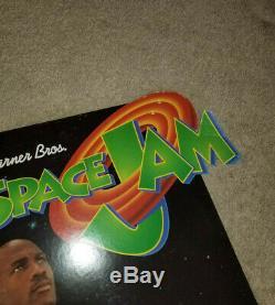 1996 Space Jam Michael Jordan Movie Display Cardboard Stand Up Warner Bros