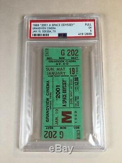 2001 A Space Odyssey Original 1969 Movie Ticket Stanley Kubrick PSA 5