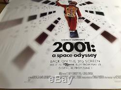 2001 A Space Odyssey Original Cinema UK Quad Poster 2018 Stanley Kubrick