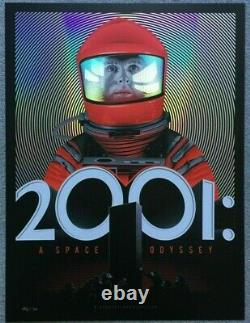 2001 RED FOIL Movie Poster Art Print Tracie Ching Stanley Kubrick Spoke Art