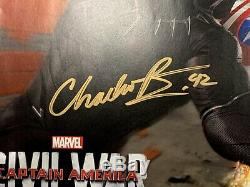2016 SDCC Marvel CIVIL WAR CHADWICK BOSEMAN as BLACK PANTHER Signed Poster