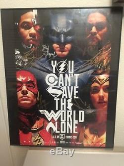 2017 Sdcc Exclusive Justice League 5 Signed Autograph Auto Aquaman Batman Wonder