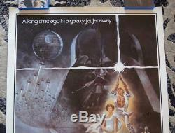 27x41 STAR WARS 1977 Original'Hairy' STYLE A One Sheet Theatrical Poster 77/210