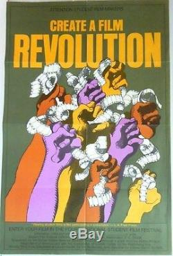 4th National Student Film Festival Poster Create a Revolution 1969 Milton Glaser