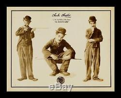 A DOGS LIFE 1918 LOBBY CARD MOVIE POSTER CHARLIE CHAPLIN CineMasterpieces