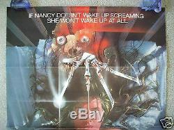 A Nightmare On Elm Street 1984 Original Movie Poster Freddy Krueger Halloween