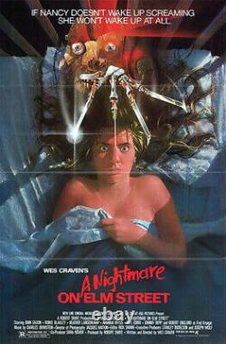 A Nightmare on Elm Street (1984) Movie Poster, Original, SS, VG/NM, Tri-Folded
