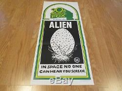ALIEN ORIGINAL 1979 STOCK CINEMA DAYBILL FILM POSTER SUPER RARE Sigourney Weaver
