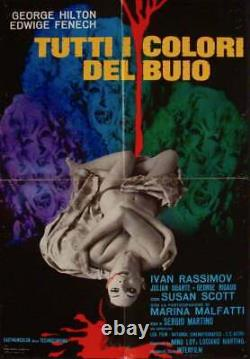 ALL THE COLORS OF THE DARK Italian 1F movie poster A 26x38 EDWIGE FENECH GIALLO