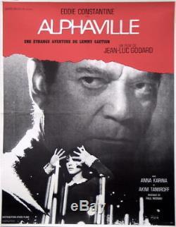 ALPHAVILLE 1965 Original French poster 23x32 Godard