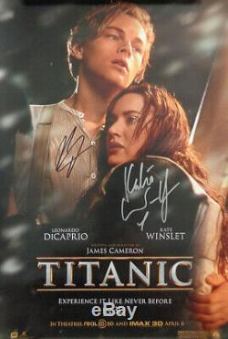 AUTOGRAPHED'Titanic' (1997 / 2012) (DiCaprio & Winslet) Movie Poster + COA