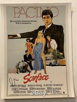 Al Pacino Autographed Scarface 11x14 Movie Poster Photo Hand Signed Godfather