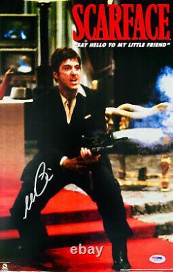 Al Pacino Signed 11 x 17 Scarface Movie Poster Photo Tony Montana PSA DNA 6