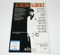 Al Pacino Signed'scarface' Movie Poster Photo Beckett Coa Proof Tony Montana
