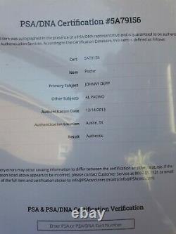 Al Pacino and Johnny Depp Signed Donnie Brasco 11x17 Movie Poster Photo PSA COA
