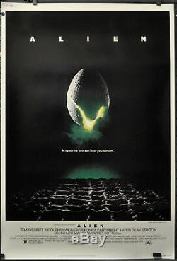Alien 1979 Original 40x60 Movie Poster Sigourney Weaver John Hurt