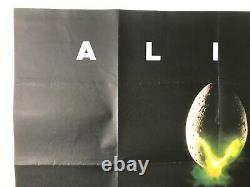 Alien Original 1979 Quad Poster Ridley Scott Sigourney Weaver Tom Skerritt Hurt
