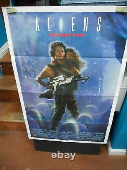 Aliens 1986 Original One-sheet Movie Poster Ripley Style Unused! Rare