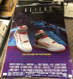 Aliens Reebok Shoe ORIGINAL 1986 Promo Alien Stompers Poster Never Displayed FOX