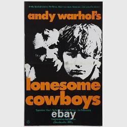 Andy Warhol Rare Vintage 1978 Original Lonesome Cowboys Poster