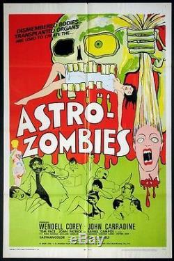 Astro-zombies Rare Ted V. Mikels Horror Tura Satana 1968 1-sheet
