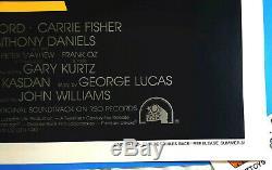 AuthenticStar WarsTHE EMPIRE STRIKES BACKOne Sheet PosterSummer VTG 1981