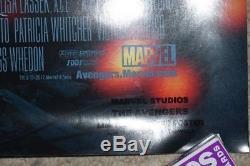 Avengers 2012 Original Authentic DS 27x40 Cast Signed El Capitan Premiere Poster
