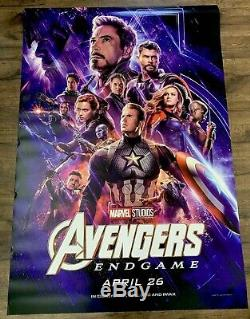 Avengers End Game Original BUS SHELTER MOVIE POSTER DOUBLE SIDED 4ft X 6ft