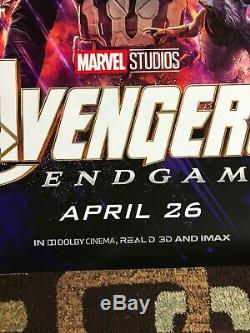 Avengers Endgame Original 4X6 Bus Shelter Movie Poster DS 2019 US Undisplayed