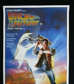 BACK TO THE FUTURE 1985 Original Australian daybill movie poster Michael J Fox