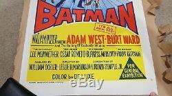 BATMAN (1966) Original Linen Backed Daybill Adam West / Burt Ward FLAWLESS