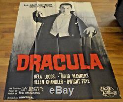 BELA LUGOSI DRACULA Poster (French) 47 x 63 Original Universal, Good