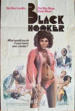 BLACK HOOKER one sheet movie poster 27x41 BLAXPLOITATION 1975 VERY RARE