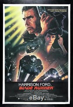 BLADE RUNNER CineMasterpieces 1982 NSS ORIGINAL VINTAGE SCI FI MOVIE POSTER