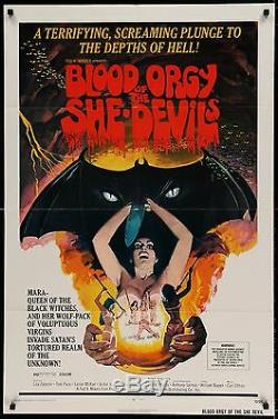 BLOOD ORGY OF THE SHE DEVILS 1972 Movie Poster #Grindhouse #Horror #Exploitation