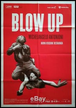 BLOW UP Original Movie Poster 39x55 2Sh Italian ANTONIONI HEMMINGS REDGRAVE