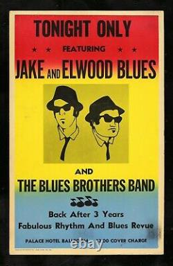 BLUES BROTHERS CineMasterpieces 1980 ORIGINAL PROP MOVIE POSTER JOHN BELUSHI