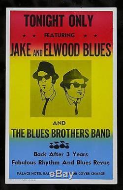BLUES BROTHERS CineMasterpieces ORIGINAL PROP MOVIE POSTER JOHN BELUSHI 1980