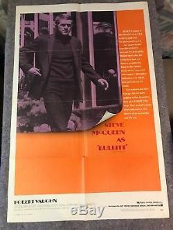 BULLITT 1968 ORIG. 1 SHEET MOVIE POSTER 27x41 (VG) STEVE MCQUEEN/ROBERT VAUGHN