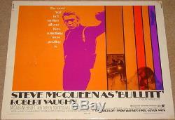BULLITT Original 1968 US 22x28 Half Sheet film poster Steve McQueen RARE