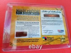 Babe Ruth Game Used Bat & Yankee Stadium Brick Card 2009 Breygent Movie Posters