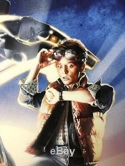 Back To The Future 1-2-3 Giclée Print Signed By Michael J. Fox And Drew Struzan