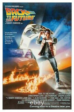 Back To The Future (1985) Original Advance Movie Poster Rolled Art By Drew